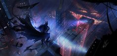 Batman the eternal guardian by DreadJim