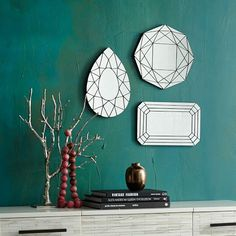 Gem Cutout Mirrors, West Elm