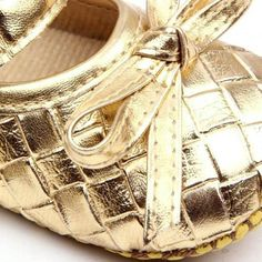 Newborn Baby Girls Shoes First Gold Walkers