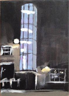 Acryl op doek Art Work, My Arts, Night, Painting, Work Of Art, Painting Art, Art Pieces, Paintings, Draw