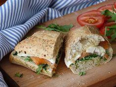 Kouzlo mého domova: Zapečený sendvič s rukolou, uzeným lososem a balká...