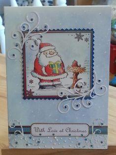 Hunkydory christmas card using the Santa's pants collection.