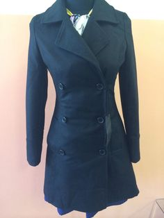 NWT DAGGS wool coat tg. 42 Italy