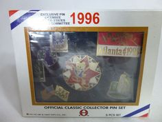1996 Olympics Classic Collector 5 Pin Set Atlanta Izzy Red Star Unopened #HoHoArtCraftIntl