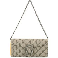 Gucci Dionysus Crossbody Wallet (39,880 INR) ❤ liked on Polyvore featuring bags, wallets, beige, cross body, beige wallet, white cross body bag, beige bag and gucci