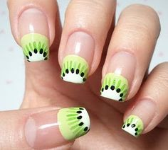 kiwi nail design. thats different, Right?