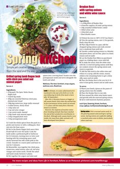 ~ Spring kitchen ~ Nutritious, delicious and packing a flavour punch! #food #recipes #ideas #inspiration #Farnham #Surrey