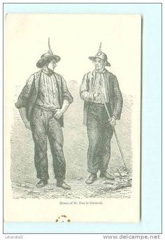 Miners of St Ives. St Ives Cornwall, Cornwall England, Cornish Tin Mines, Victorian Costume, Illustration Art, Illustrations, Coal Mining, Poldark, Beatrix Potter