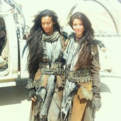 Flashback to October 2012 on the set of @madmaxmovie with my badass stunt double @_genevieveaitken - I did as many of those stunts as I could possibly do but sometimes there are times when you need to leave it to the exceptionally talented professionals like Gen.  #fbf