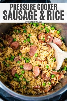 Quick and easy pressure cooker sausage and rice. Every step, all in one pot. Hearty dump and go meal you can throw together in minutes. And hardly any dishes to do after dinner! Food Tips, Food Hacks, Easy Dinner Recipes, Easy Meals, Grilling Recipes, Cooking Recipes, Sausage Rice, Healthy Family Dinners, Caramel Pecan