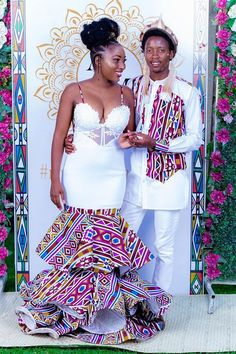 """And then I had a traditional wedding in Zimbabwe. What a beautiful day it was. Call me Mrs N"" African Bridal Dress, African Print Wedding Dress, African Wedding Attire, African Prom Dresses, Latest African Fashion Dresses, African Dresses For Women, African Traditional Wedding Dress, African Fashion Traditional, Couples African Outfits"