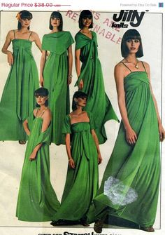 New Years Sales Blitz Vintage Simplicity 8086 UNCUT Misses Multi Wrap Empire Gown Sewing Pattern Size 10 - 12. $30.40, via Etsy.