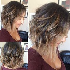 Bob hairstyles with bangs cover a wide range of hair lengths and fashion styles. So if your hair is too boring, these colorful bobs will soon enliven you! Trendy Bob Hairstyles with Pony Choppy and Shaggy Bobs are two of… Continue Reading → Bob Hairstyles With Bangs, Wavy Haircuts, Layered Hairstyles, Hairstyles 2016, Summer Hairstyles, Trendy Haircuts, Popular Haircuts, Bob Bangs, Wavy Medium Hairstyles