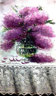CELAL GÜNAYDIN Turkish Artist Painter Watercolor - suluboya 50x30 cm