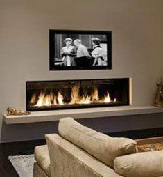 Living Room With Fireplace - When a need for survival, a fireplace is now a decorative component that can include significant design (and extra heat) to a living-room. A fireplace . Linear Fireplace, Fireplace Hearth, Home Fireplace, Fireplace Inserts, Living Room With Fireplace, Fireplace Surrounds, Fireplace Design, Home Living Room, Living Room Designs