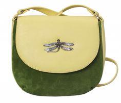 Зеленая сумка из комбинированных материалов от бренда Marimann