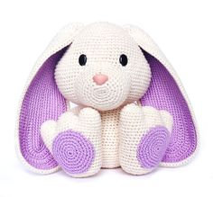 crochet amigurumi rabbit patterns Get Ready for Easter With These 25 Crochet Patterns: Crochet Easter Bunny Toy - These 25 Easter crochet patterns including baskets, egg cozies, decor and wearables. They feature bunnies, chicks and other Easter favorites. Easter Bunny Crochet Pattern, Crochet Rabbit, Cute Crochet, Crochet Crafts, Crochet Baby, Crochet Projects, Baby Knitting, Crochet Amigurumi, Amigurumi Doll