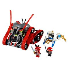 LEGO Ninjago Garmatron $39.99   Lord Garmadon's most fearsome soldier, General Kozu has stolen the elemental ice blade and is trying to escape in the Garmatron, a tracked-tire battle machine straight from the underworld. Chase after him with Zane on the ice spider and fire the ice shooter. Dodge the Garmatron's hidden missile and get the elemental ice blade back without being locked up in the Garmatron's prison. (3) minifigures with weapons: Zane, General Kozu and swordsman. Includes hidden…