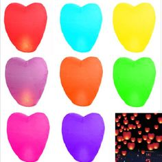 20pcs Paper Chinese Kongming Lanterns Sky Fire Candle Wish Lamp Wedding Party