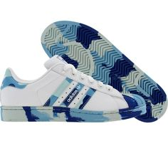 Adidas Superstar 2 (white / argyle blue / Masblu) 462525 - $59.99