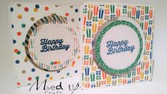 Check out my really fun Spinning Cards using Stampin Up 'Party Animal' DSP. Fancy Fold Cards, Folded Cards, Birthday Card Template, Birthday Cards, Easy Magic Tricks, Spinner Card, Card Tricks, Card Making Tutorials, Animal Party