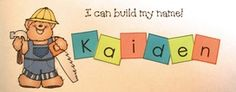 """Name writing activities: Cute """"Build your name"""" worksheet.  Includes color plus black & white options; along with letter tiles for children to cut & glue.  Completed projects make a sweet bulletin board."""