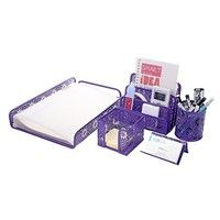 1.Material: Punched Metal Desk Accessories are made from epoxy coated metal 2.Size: L9.2*W13.8H2.2