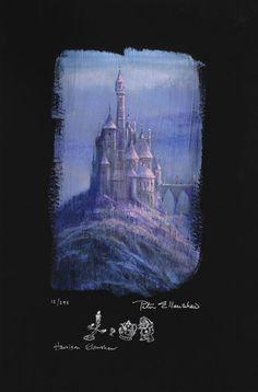 """Beauty and the Beast Castle"" by Peter & Harrison Ellenshaw | Disney Fine Art | Disney's Beauty and the Beast"
