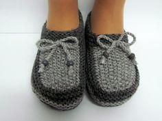 comment tricoter pantoufles laine                                                                                                                                                                                 Plus