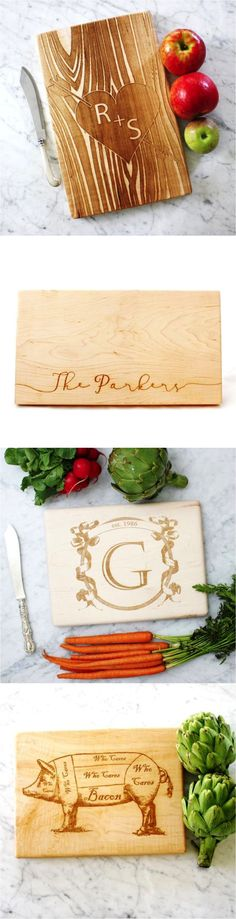 Personalized cutting boards are a unique and thoughtful way to congratulate your favorite newlyweds | Made on Hatch.co