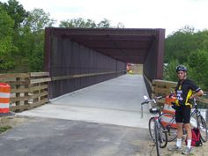 Bike and Hike Trail near Stow, Ohio. The bridge across the highway was finished this summer. Great trail, lots of variety and only 35 min from home.