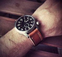 Maratac pilot leather strap