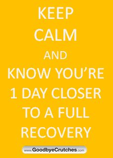Recovery On One Foot After Surgery Or Injury Can Be Challenging