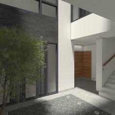 Imagen del patio del edificio de viviendas situado en el centro de Sevilla Garage Doors, Patio, Outdoor Decor, Home Decor, Sevilla, Buildings, Centre, Architecture, Interiors