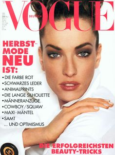 Tatjana Patitz Vogue Deutsch July 1992