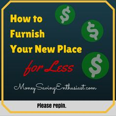 Home Decorating Ideas: How to Furnish Your New Place for Less #DIY #Save #Money http://www.moneysavingenthusiast.com/2015/06/home-decorating-ideas-2/