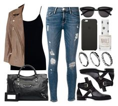 """""""Style #8825"""" by vany-alvarado ❤ liked on Polyvore featuring Frame Denim, Oasis, AllSaints, Pierre Hardy, Balenciaga, Yves Saint Laurent, Black Apple, Topshop and DesignSix"""