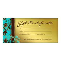 Salon and spa gift certificates printable massage therapist gift gift certificates salon spa gold floral printable yadclub