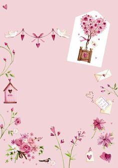 Lilac Hearts, Bird House, Flowers