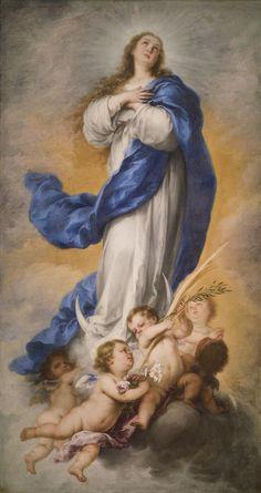 The Immaculate Conception of Aranjuez / La Inmaculada de Aranjuez // Hacia 1675 // Bartolomé Esteban Murillo // Sevilla // #VirginMary #VirgenMaría