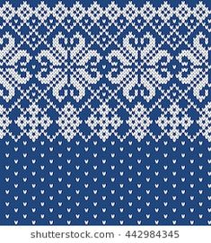 Find Festive Sweater Design Seamless Knitted Pattern stock images in HD and millions of other royalty-free stock photos, illustrations and vectors in the Shutterstock collection. Knitting Charts, Knitting Patterns Free, Free Knitting, Norwegian Knitting, Tapestry Crochet Patterns, Fair Isle Pattern, Cross Stitch Borders, Fair Isle Knitting, Sweater Design
