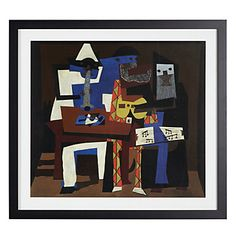 Bold colors and abstract forms by another modern master. Three Musicans by Pablo Picasso, $119.95