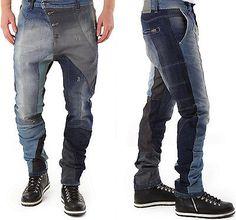 ABSOLUT JOY Herren  Stylische Loose-Fit Multicolor Jeans Hose  S-M-L-XL