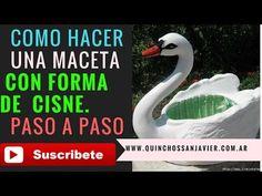 COMO HACER UN MACETERO O MACETA CON FORMA DE CISNE A PARTIR DE MATERIALES RECICLADOS IDEAS JARDÍN - YouTube