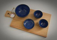 Set van 4 unieke handgedraaide tapas kommetjes / schaaltjes / keramiek - steengoed (gesigneerd) Tapas, Van, Etsy, Vans, Vans Outfit