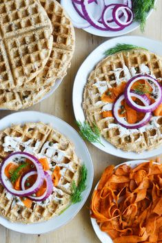 "Vegan Everything Bagel WAFFLES with Carrot ""Lox"""