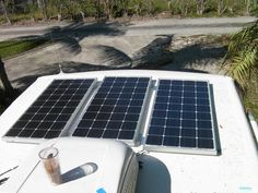 Give your RV some electrical independence and save some money by installing solar panels. Here's a guide to everything you'll need to get started! Rv Solar Panels, Portable Solar Panels, Solar Panel Kits, Solar Panel Installation, Portable Solar Power, Solar Power System, Solar Energy Facts, Gas Generator, Solar House
