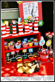 Homespun With Love: Cat In The Hat Birthday Party