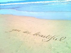 you are the tiny grain of sand that makes the world whole. you are the tiny grain of sand that makes the world whole. Beautiful Inside And Out, You Are Beautiful, Beautiful Beach, Hey Gorgeous, Hello Beautiful, Beautiful People, Beautiful Pictures, Words Quotes, Love Quotes