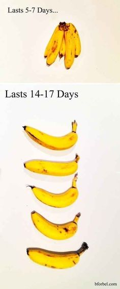 Break your bananas apart and increase their counter life. | 34 Ways To Waste Less Food
